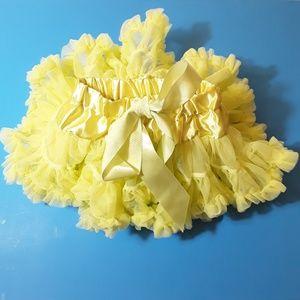 Cute Kids Yellow Tutu Petticoat Skirt